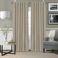 Elrene Leila 84-Inch Rod Pocket/Back Tab Matelasse Darkening Window Curtain Panel in Beige