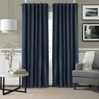 Leila 108-Inch Rod Pocket/Back Tab Window Curtain Panel in Navy