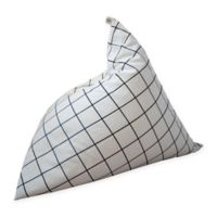 Wildfire Teepees® Canvas Upholstered Grid Bean Bag Chair in Black/white