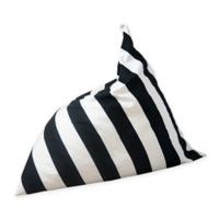 Wildfire Teepees® Canvas Upholstered Stripe Bean Bag Chair in Black/white