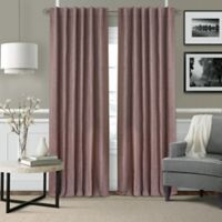 Elrene Leila 108-Inch Rod Pocket/Back Tab Matelasse Darkening Window Curtain Panel in Mauve