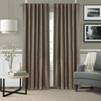 Elrene Leila 84-Inch Rod Pocket/Back Tab Matelasse Darkening Window Curtain Panel in Dark Taupe