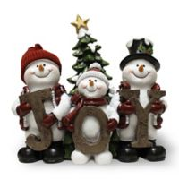 """A Cheerful Giver """"Joy"""" Willie the Snowman Resin Figurine"""