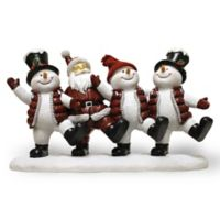 A Cheerful Giver Dancing Willie the Snowman Resin Figurine