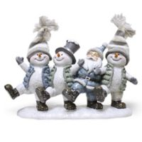 A Cheerful Giver Crystal Willie the Snowman Resin Figurine