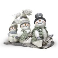 A Cheerful Giver Toboggan Willie the Snowman Resin Figurine
