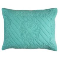 Rizzy Home Moroccan Fling Floral King Pillow Sham in Aqua