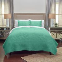 Rizzy Home Moroccan Fling Floral King Quilt in Aqua