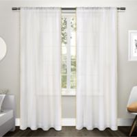 Pom Pom 84-Inch Rod Pocket Window Curtain Panel Pair in Yellow
