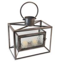 Boston International Horizontal Metal Lantern in Brown