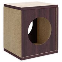 Way Basics Eco Cat Scratcher Cube House in Espresso