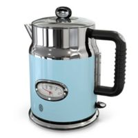 Russell Hobbs Retro Style 1.7-Liter Electric Kettle in Blue/Stainless Steel