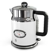 Russell Hobbs Retro Style 1.7-Liter Electric Kettle in White/Stainless Steel