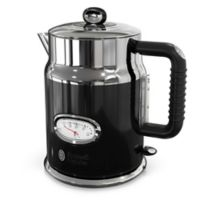 Russell Hobbs Retro Style 1.7-Liter Electric Kettle in Black/Stainless Steel