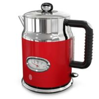 Russell Hobbs Retro Style 1.7-Liter Electric Kettle in Red/Stainless Steel