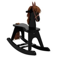 Storkcraft Wooden Rocking Horse in Black