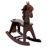 Storkcraft Wooden Rocking Horse in Espresso
