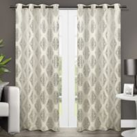 Augustus 84-Inch Grommet Window Curtain Panel Pair in Off White