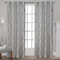 Augustus 84-Inch Grommet Window Curtain Panel Pair in Silver