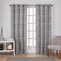 Lamont 84-Inch Grommet Window Curtain Panel Pair in Ash Grey