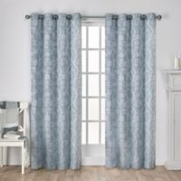 Lamont 108-Inch Grommet Window Curtain Panel Pair in Steel Blue