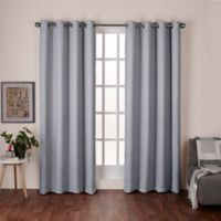 Heath 84-Inch Grommet Top Room Darkening Window Curtain Panel Pair in Dove Grey