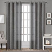Sparkles 84-Inch Grommet Top Window Curtain Panel Pair in Black Pearl