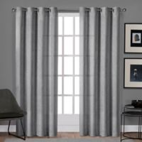 Sparkles 96-Inch Grommet Top Window Curtain Panel Pair in Dove Grey