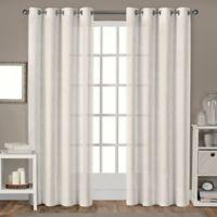Sparkles 108-Inch Grommet Top Window Curtain Panel Pair in Linen