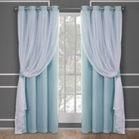 Catarina 84-Inch Grommet Room Darkening Window Curtain Panel Pair in Aqua