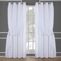 Catarina 108-Inch Grommet Room Darkening Window Curtain Panel Pair in Winter White
