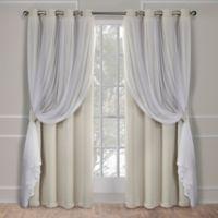 Catarina 108-Inch Grommet Room Darkening Window Curtain Panel Pair in Sand