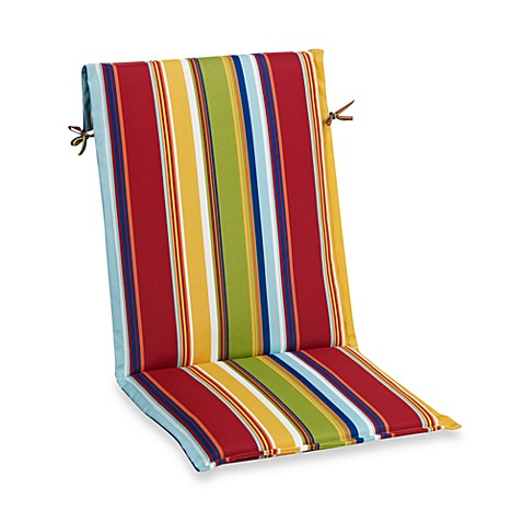 Sling Back Chair Cushion in Bright Stripe