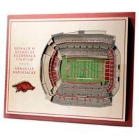 University of Arkansas 5-Layer StadiumViews 3D Wall Art