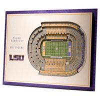 Louisiana State University 5-Layer StadiumViews 3D Wall Art