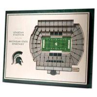 Michigan State University 5-Layer StadiumViews 3D Wall Art