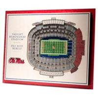 University Of Mississippi 5-Layer StadiumViews 3D Wall Art