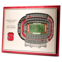 North Carolina State University 5-Layer StadiumViews 3D Wall Art