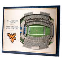 West Virginia University 5-Layer StadiumViews 3D Wall Art