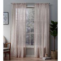 Cali 84-Inch Rod Pocket Window Curtain Panel Pair in Blush