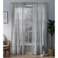 Cali 84-Inch Rod Pocket Window Curtain Panel Pair in Dove Grey