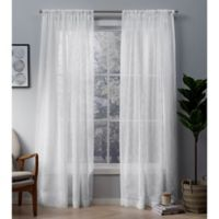 Cali 84-Inch Rod Pocket Window Curtain Panel Pair in Winter White
