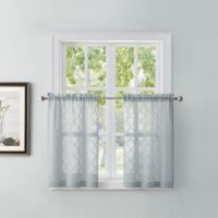 Tiburon 24-Inch Window Curtain Tier Pair in Silver Ice