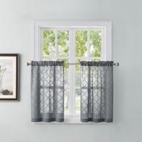 Tiburon 45-Inch Window Curtain Tier Pair in Grey