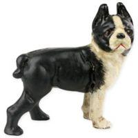 AREOHome Tyson the Boston Terrier CastIron Figurine in White/Black