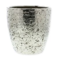 AREOHome Pyrite Large Ceramic Vase in Matte Silver