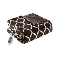 Beautyrest Ogee Oversized Heated Throw in Brown