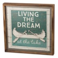 Living The Dream At The Lake 15-Inch Square Wall Art in Green