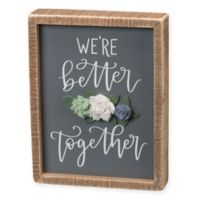 Together Box Sign Wall Art in Grey