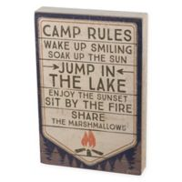 Camp Rules 12-Inch x 8-Inch Box Wall Art in Natural